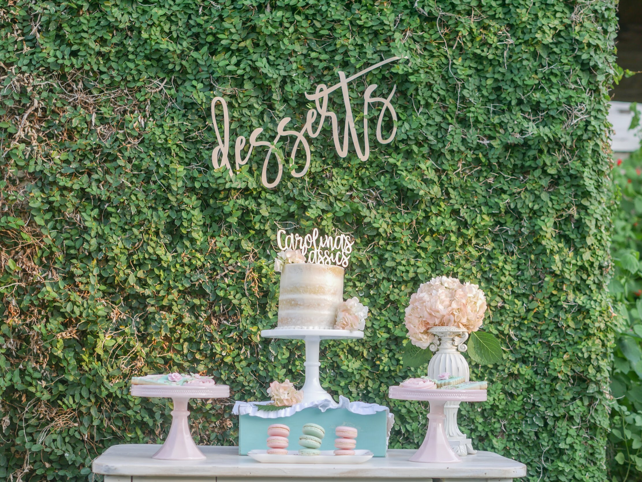 This vintage inspired garden party has so many great ideas. Click to see how to create your own outdoor garden party (with an indoor version too) on Mint Event Design www.minteventdesign.com #dessertparty #partytips #partyplanning #partyideas #diyparty #desserttable #outdoorparty