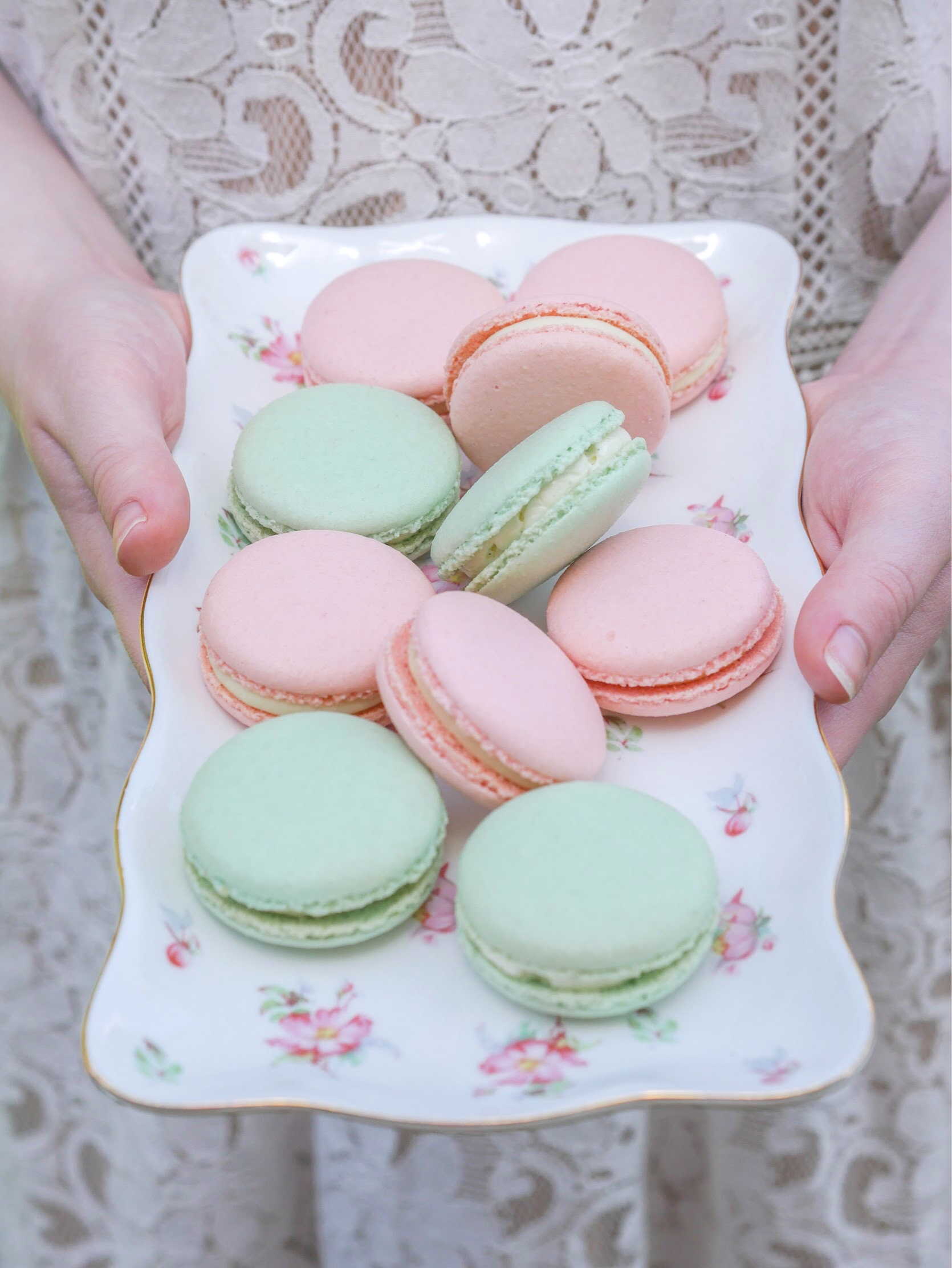 Macarons are always a good idea for party desserts - they always feel so fancy. Come see all the shabby chic and vintage vibe party ideas from Mint Event Design www.minteventdesign.com #dessertparty #partytips #partyplanning #partyideas #diyparty #macarons