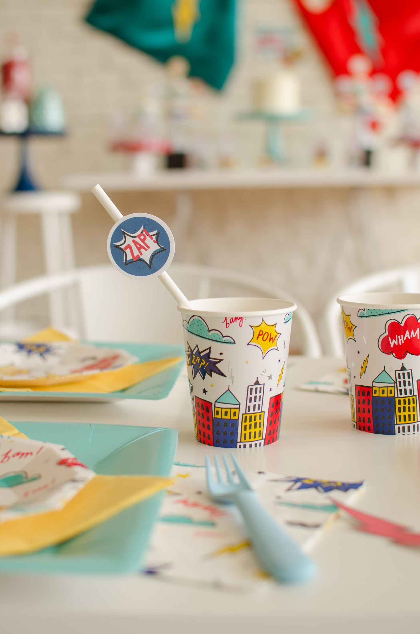 Cute party ideas for superhero lovers