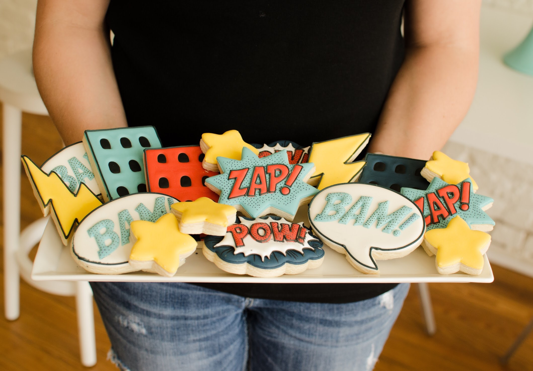 Superhero Cookies perfect for any comic book lover