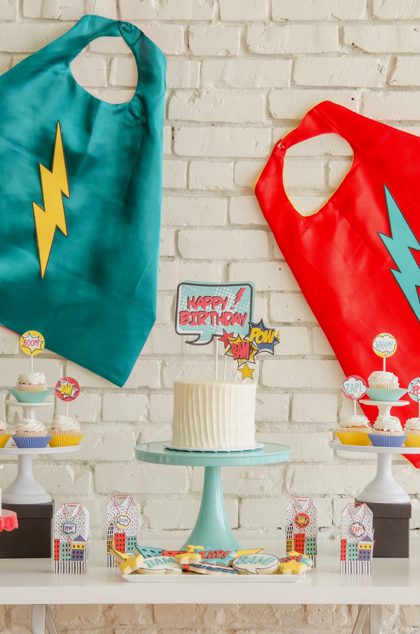 Superhero party ideas from Mint Event Design