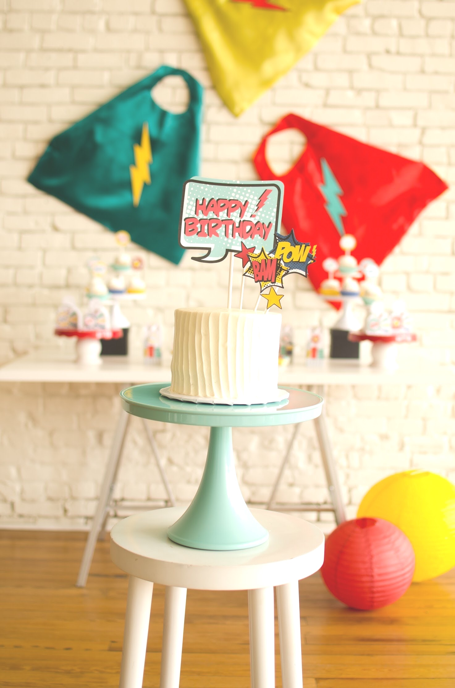 Superhero party ideas and free printables from Mint Event Design, Austin based party stylist and blogger