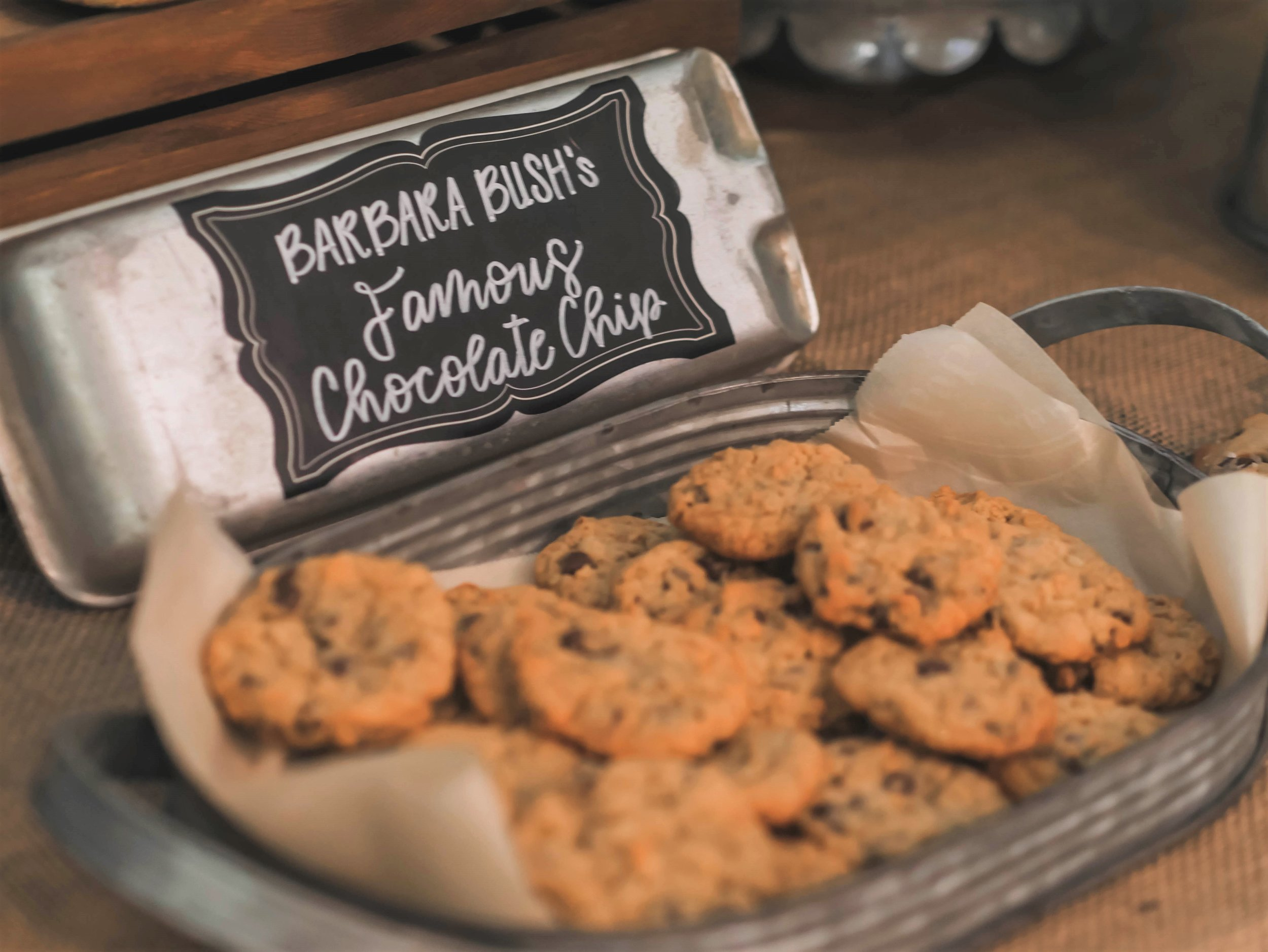 A Texas' favorite Barbara Bush's Famous Chocolate Chip cookies are perfect for a One Smart Cookie graduation party in Austin Texas - planned by Mint Event Design www.minteventdesign.com