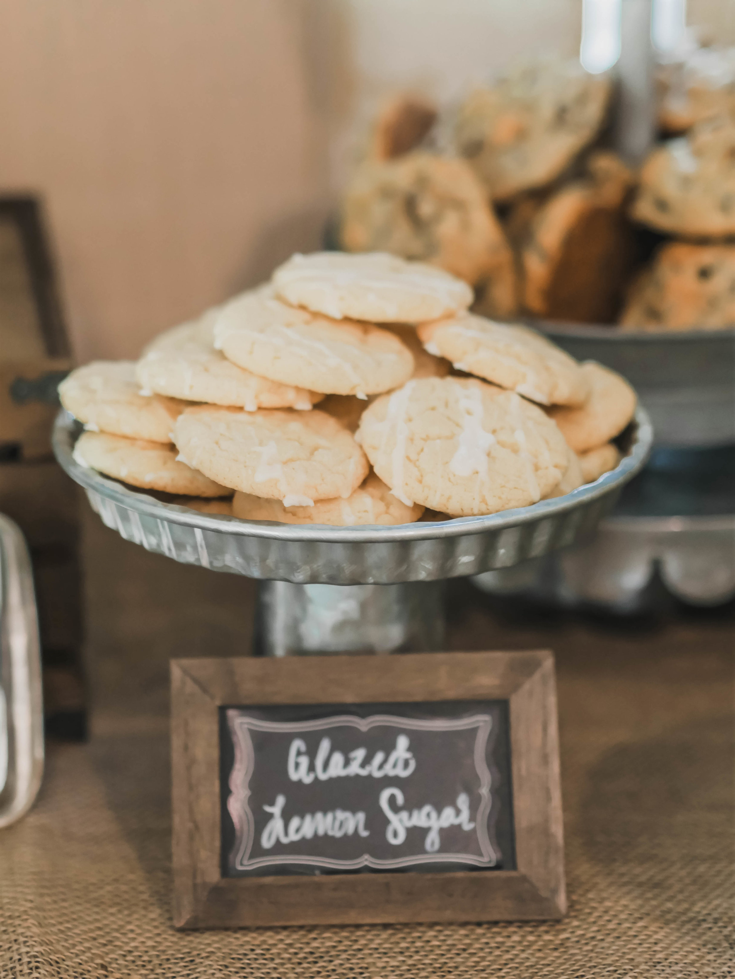 Glazed lemon sugar cookies from a Cookie Bar - as seen on Mint Event Design www.minteventdesign.com