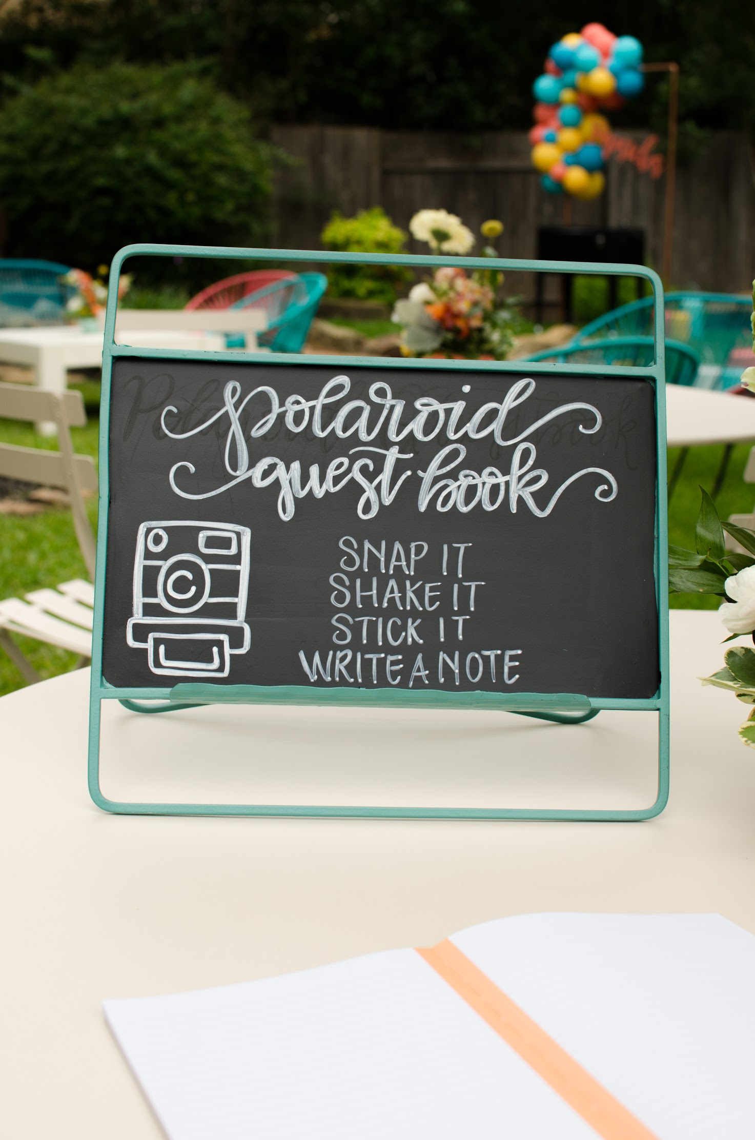 Polaroid selfie station for a graduation party - See more from this Grad Party on Mint Event Design www.minteventdesign.com