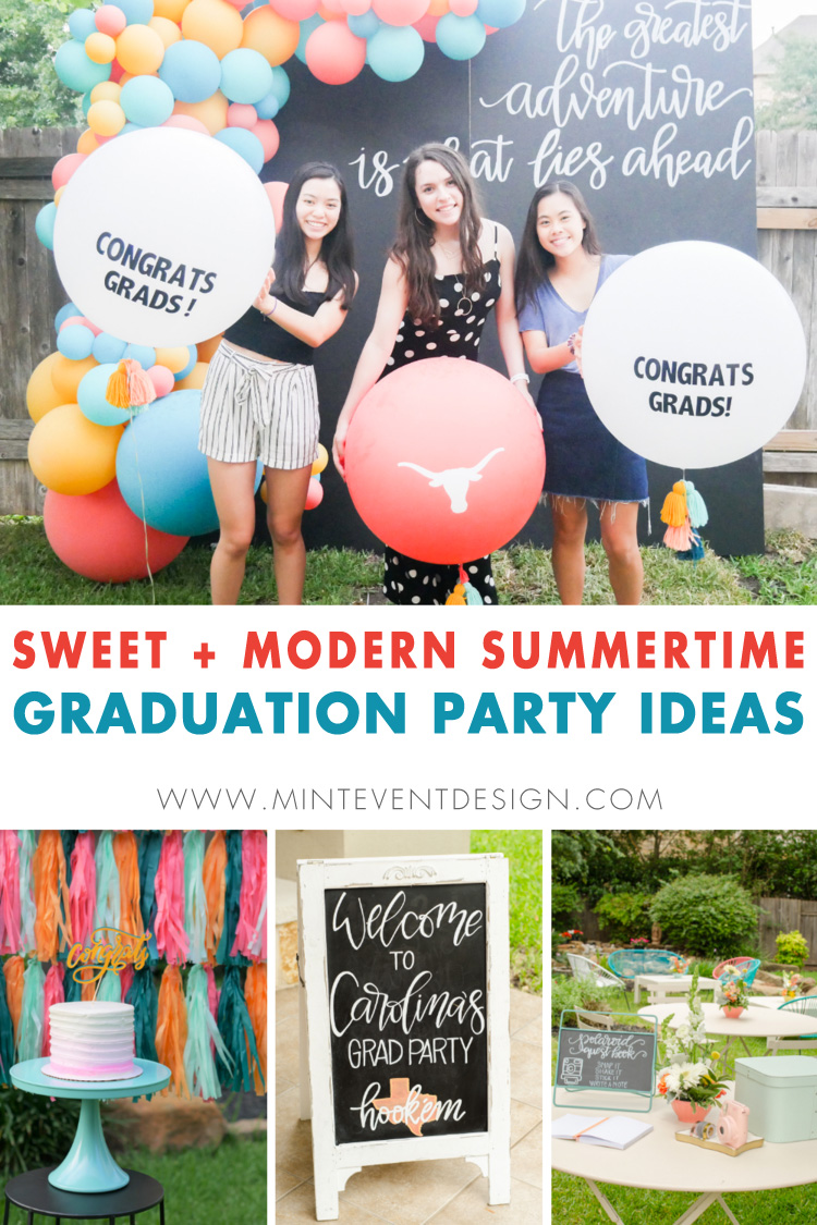 Sweet Summer Grad Party In Austin Texas Mint Event Design
