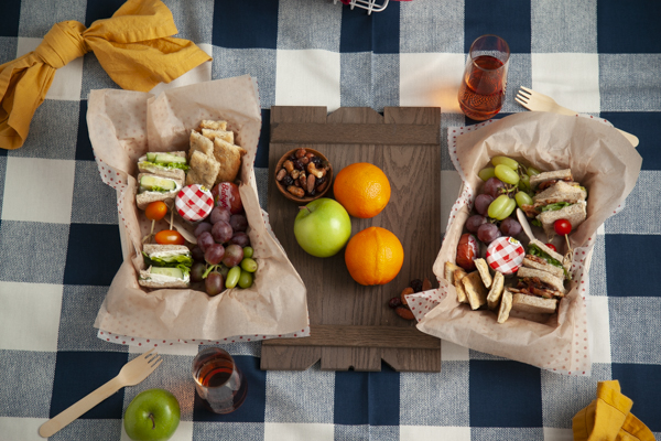 Picnic style lunchbox idea from Mint Event Design