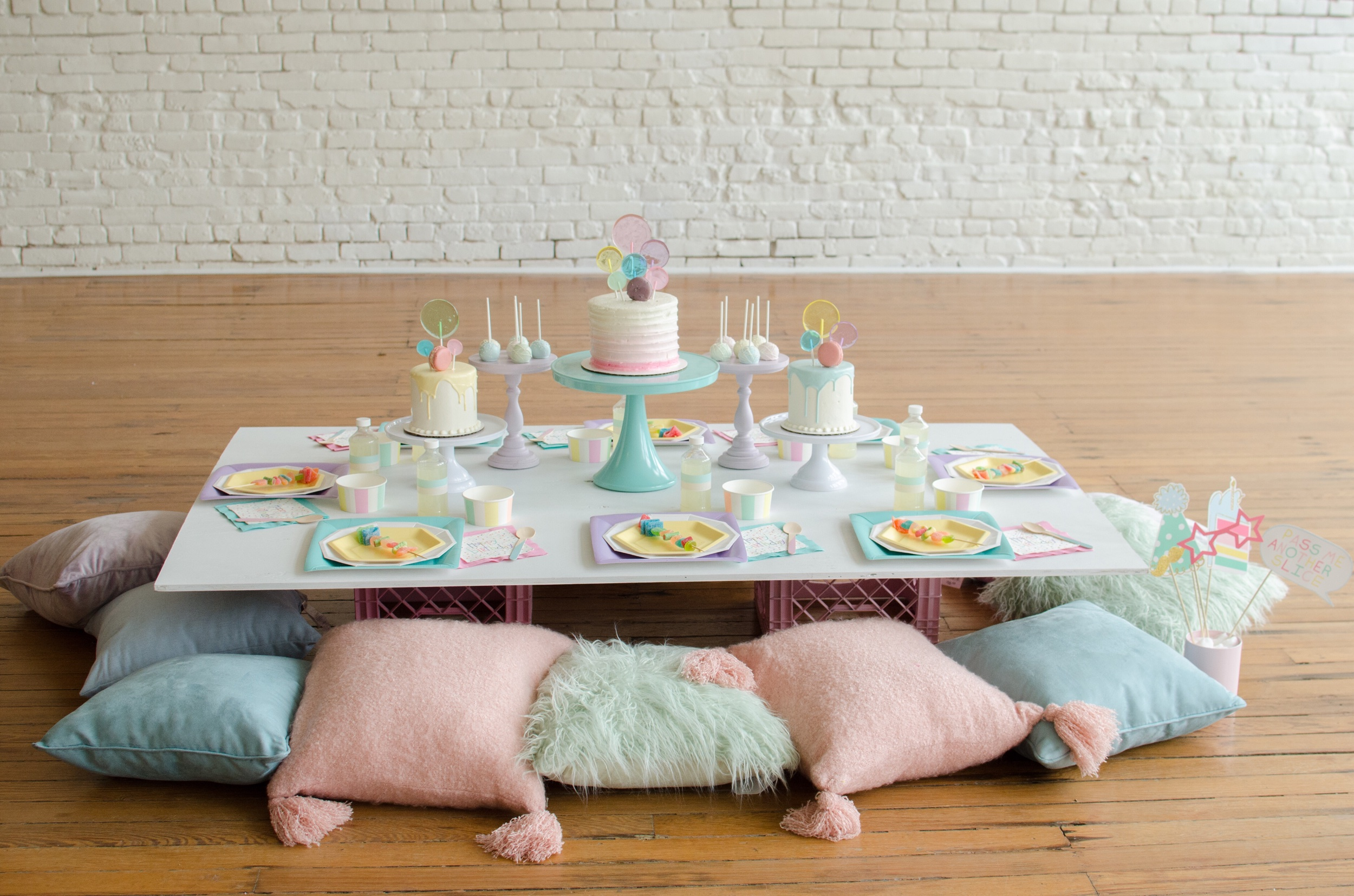 Bubble Themed birthday party ideas from Mint Event Design