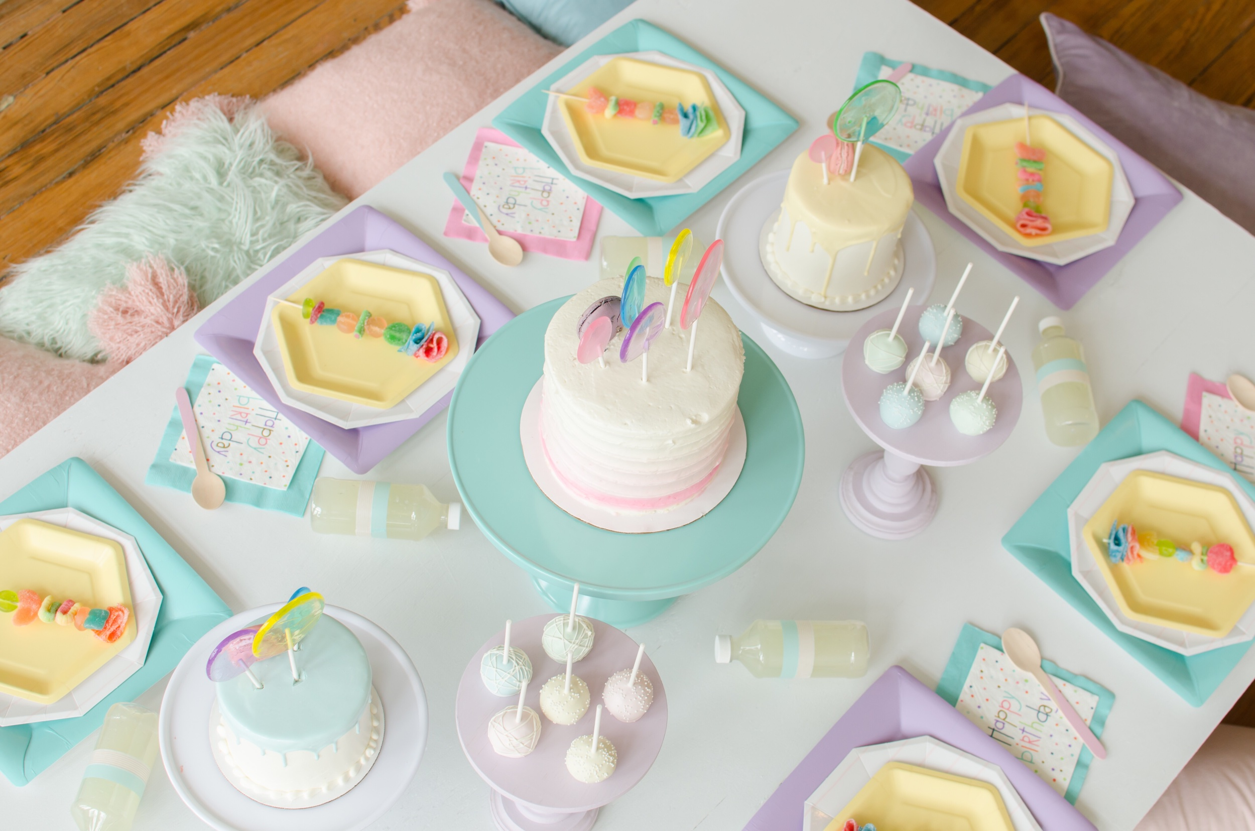 Blue and Purple pastel party ideas from Mint Event Design