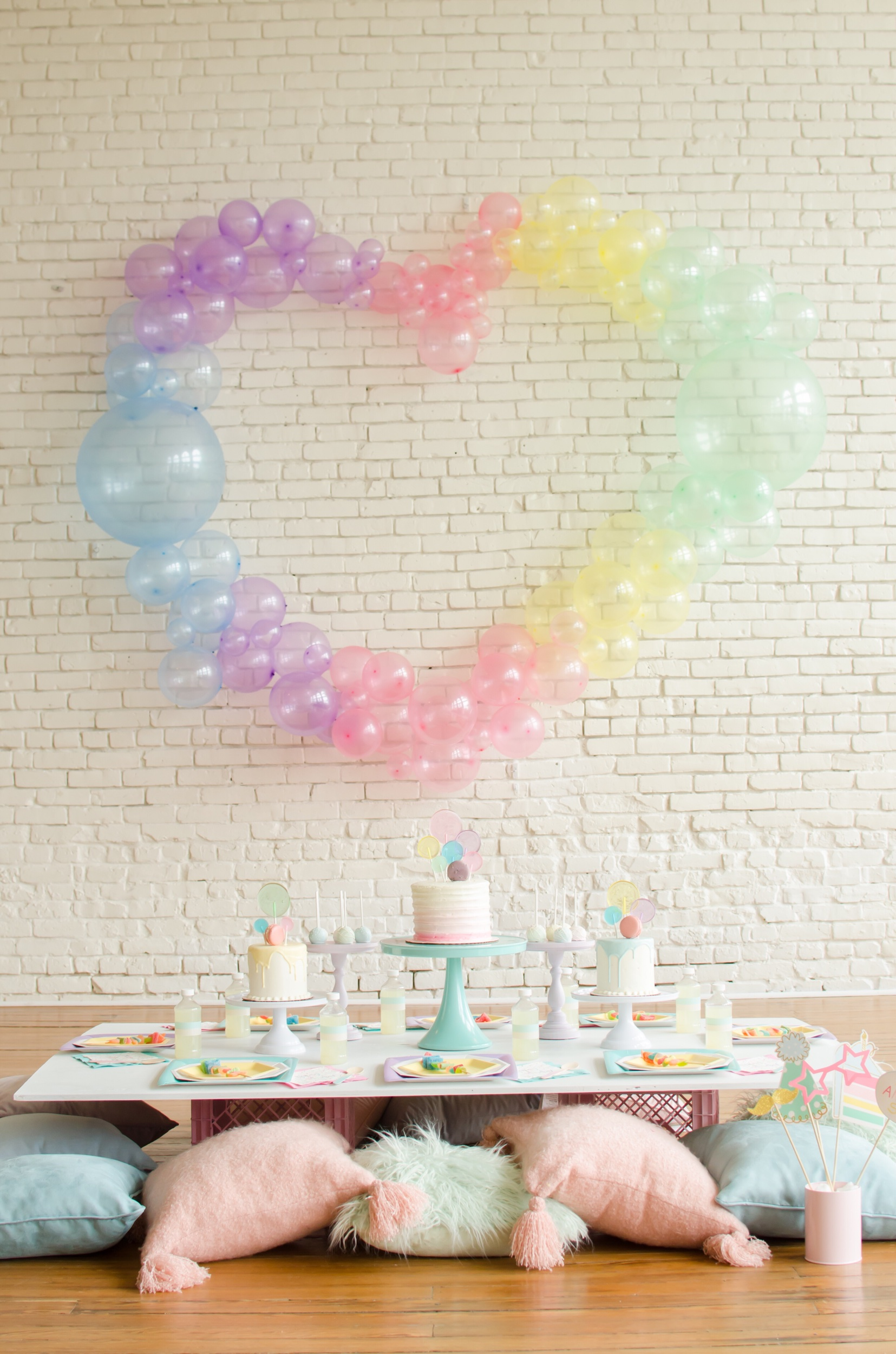Pastel colored birthday ideas from Mint Event Design