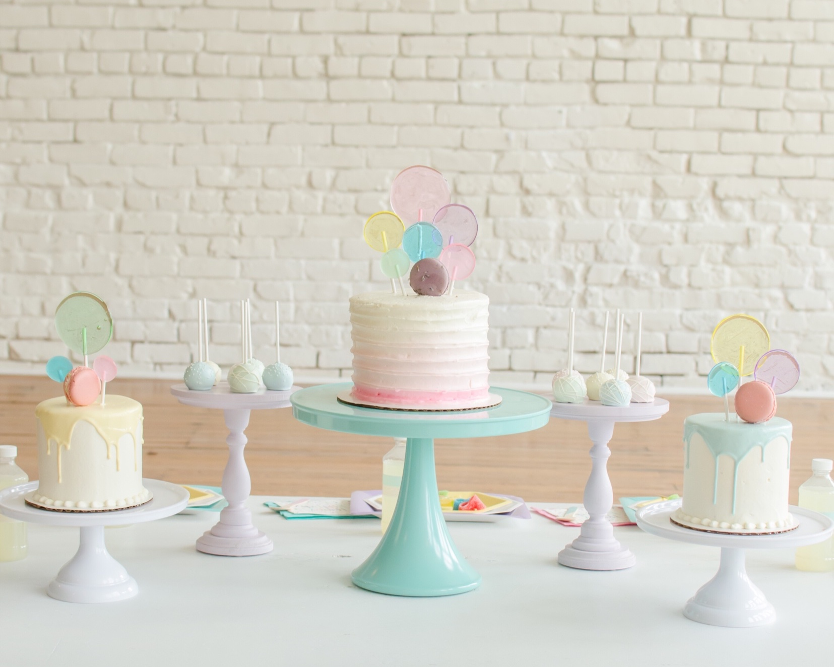 Multicolor cake ideas from Mint Event Design