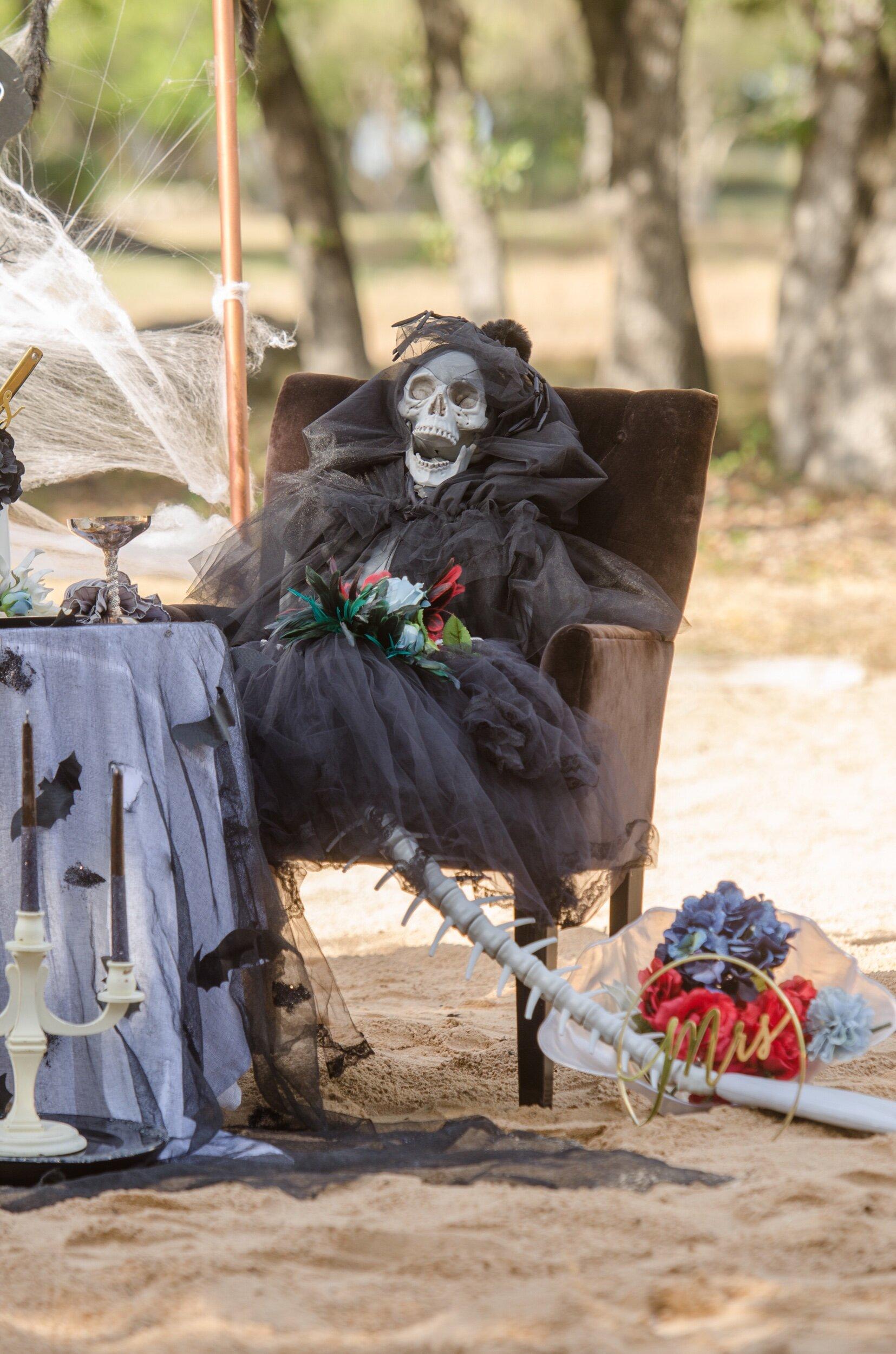 Mermaid skeleton gothic wedding idea - as seen on Mint Event Design