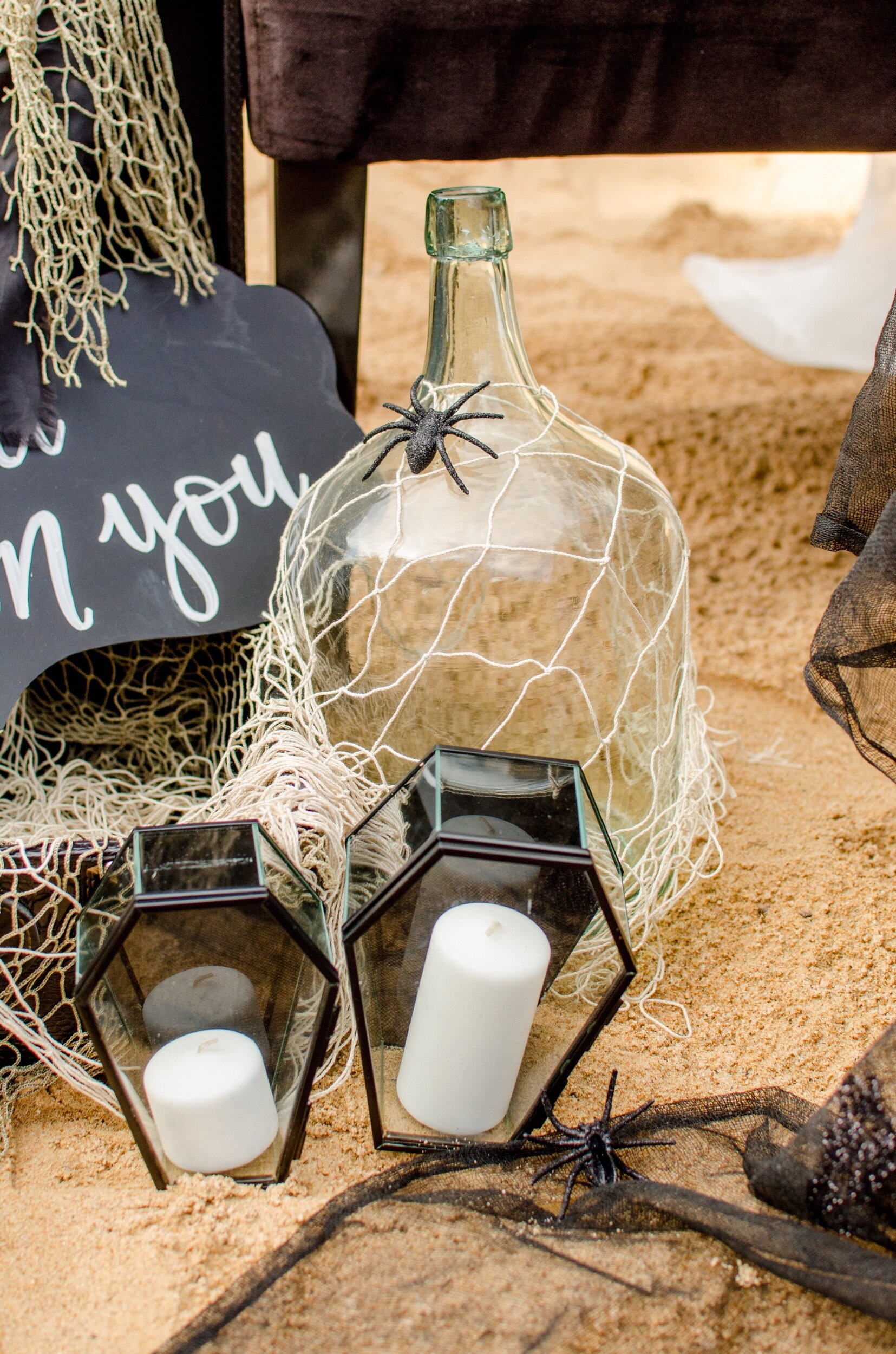 Halloween decoration ideas for a Gothic Wedding from Mint Event Design