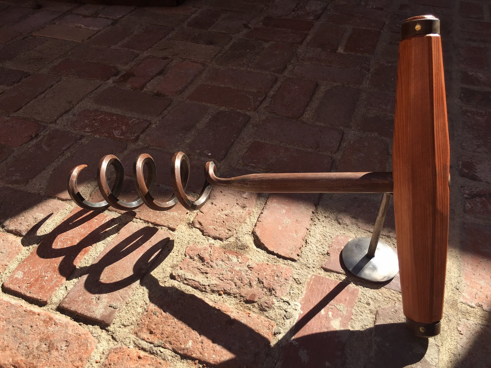 "CORKSCREW:  (24"") $3,800 Steel & Wood"