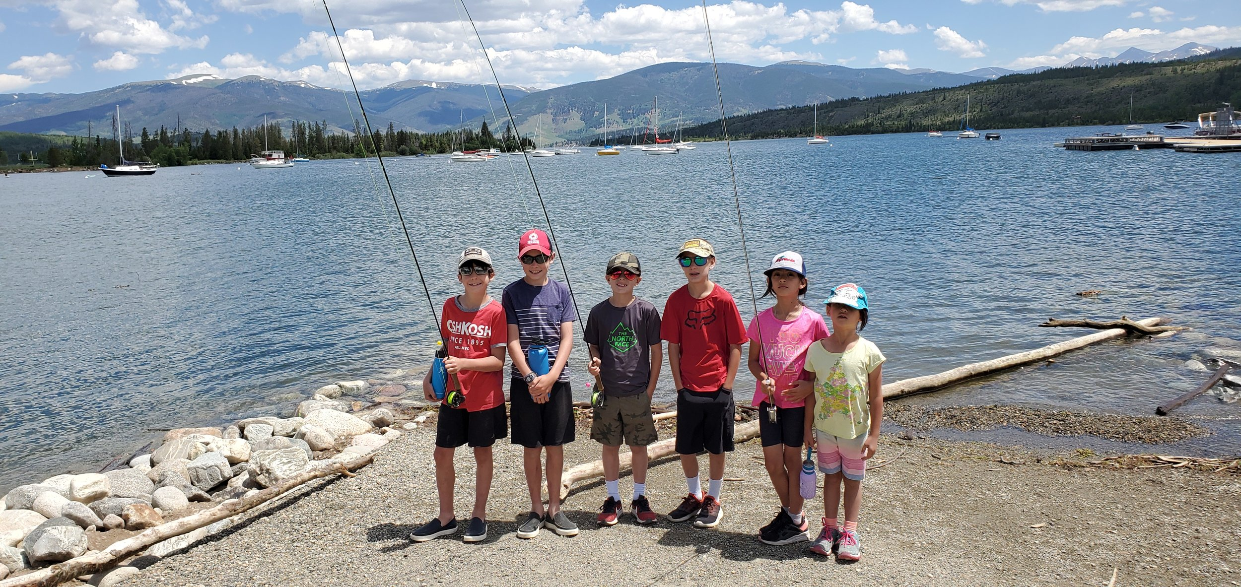 Kids and adults alike enjoy learning how to fly fish on Lake Dillon in the Rocky Mountains.