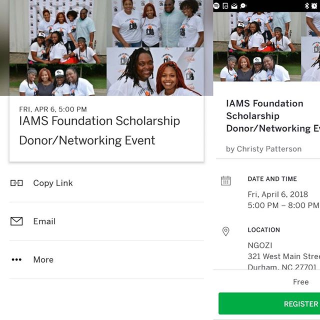 Love and Light! Calling all business owners,  entrepreneurs,  parents, organizations and everyone that puts our youth first! Follow th link and register! Peace.  https://www.eventbrite.com/e/iams-foundation-scholarship-donornetworking-event-tickets-43480769151