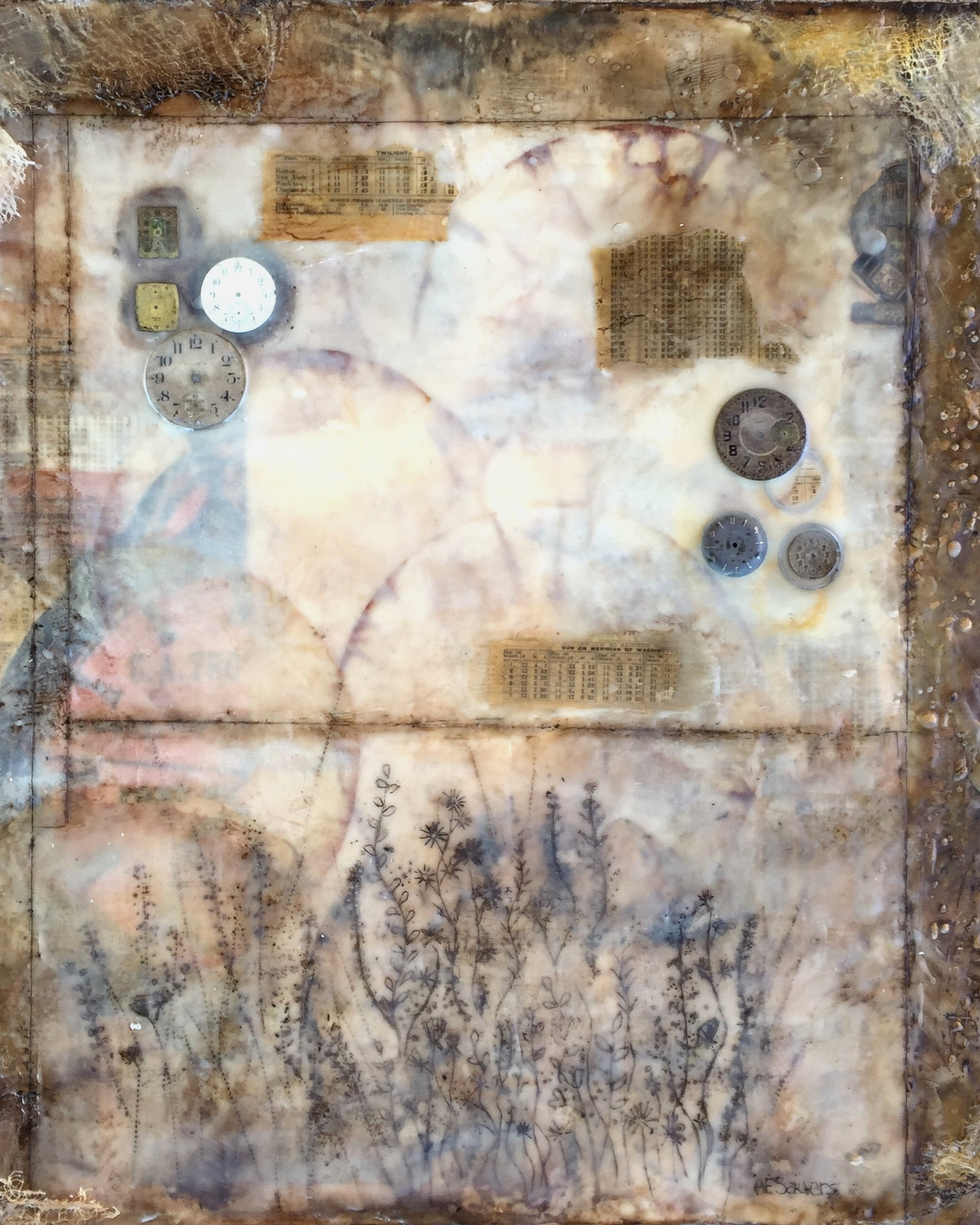 Bree Sauers  Assemblage | Collage | Encaustic