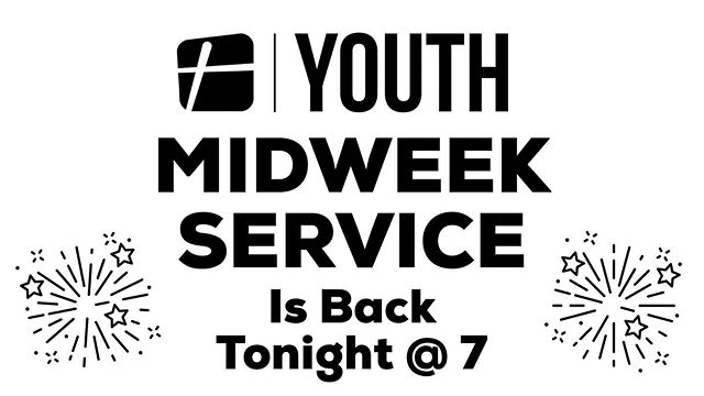 Join us tonight for midweek + meet all the brand new TPCYTH students joining us for the first time!!