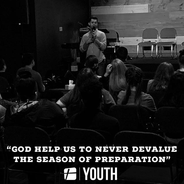 "Recap from last night: ""God help us to never devalue the season of preparation."""