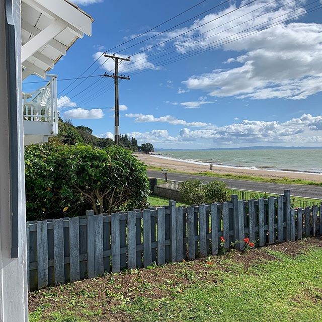 Being back in a tiny community reminds us of how important good relations with your neighbours are. We offered to paint her side of the fence when we did ours. We asked if we could trim her shrubs for a view up the beach. She readily agreed. A little bit of non-impeachable quid pro quo.