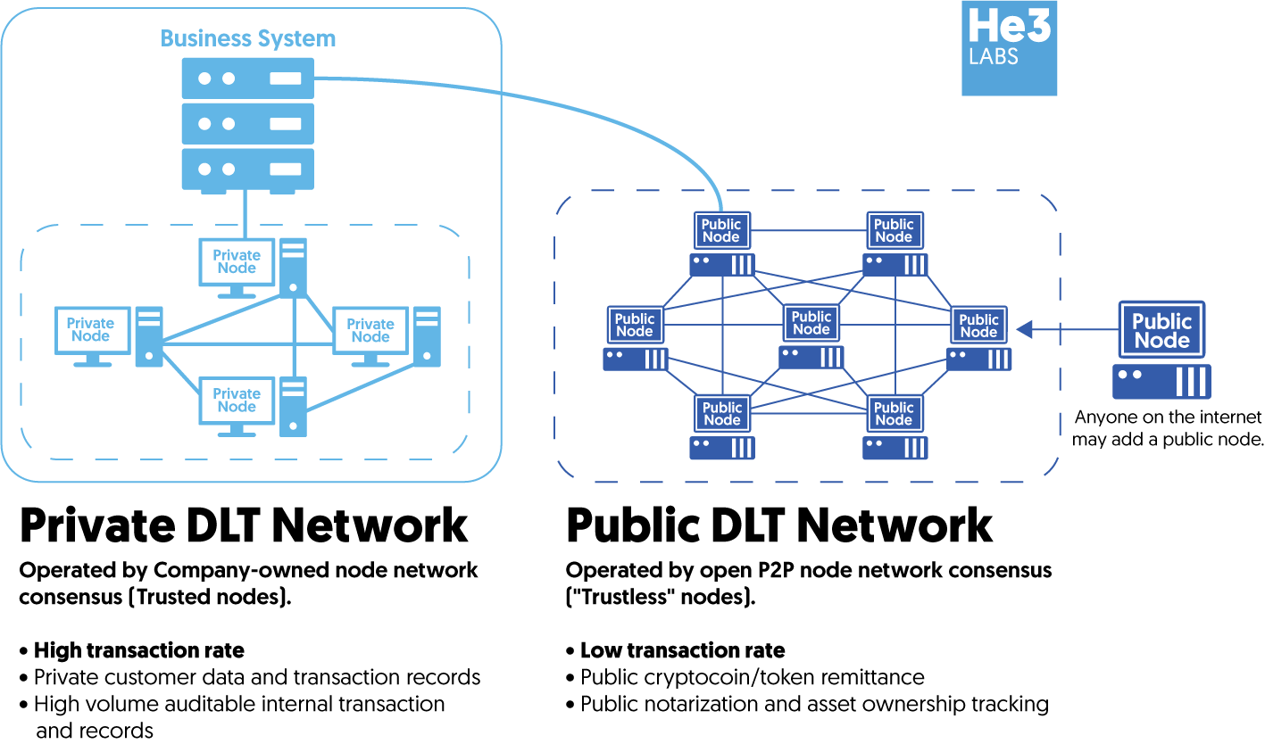 An example of a hybrid DLT solution.