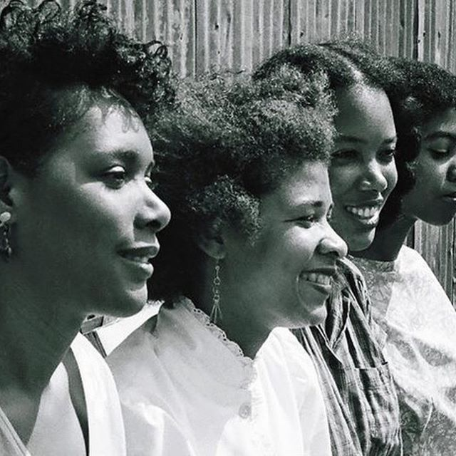 UCLA Filmmakers Julie Dash, Storme Bright, Alile Sharon Larkin, Melvonna Bellinger in Los Angeles, 1983 ⁣ ⁣ repost @apieceapart ⁣ ⁣ #notesfromapart #womenshistorymonth #larebellion #juliedash #stormebright #alilesharonlarkin #Melvonnabellinger #ucla #wif #womeninfilm