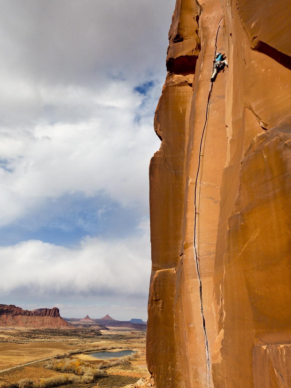 Climber on Scarface