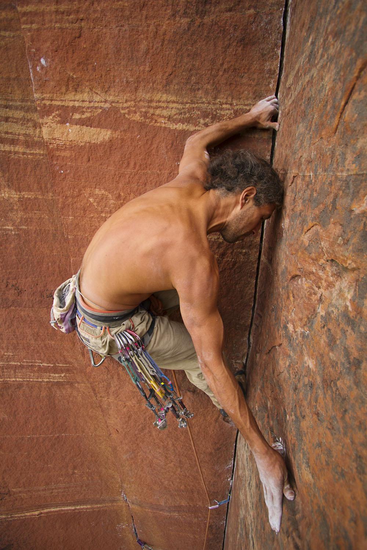 Climber on Akhum-Rah