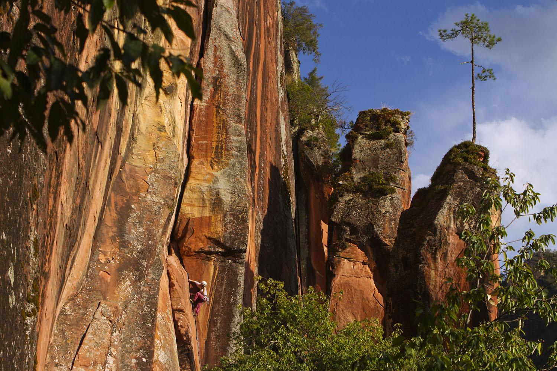 Climber on Faraway Corner