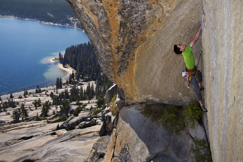 Climber on 'Top Gun'