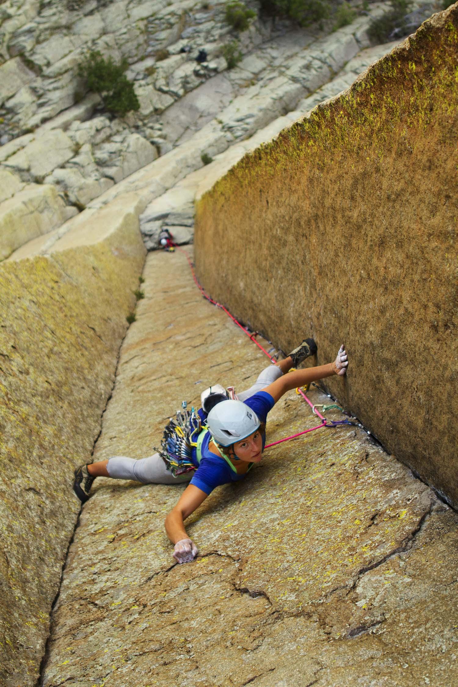 Climber on 'El Matador'