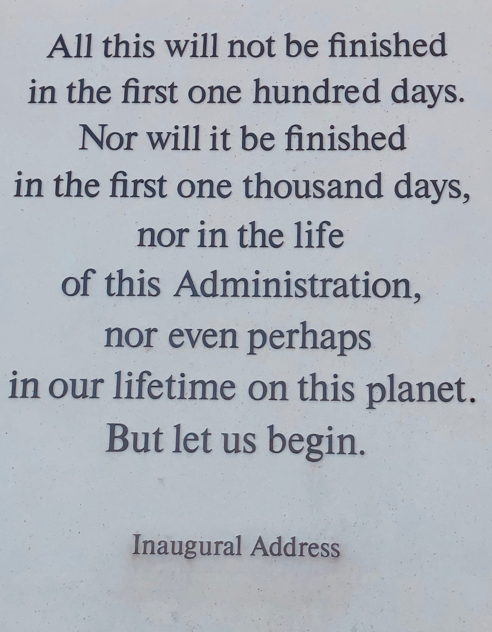 from John F. Kennedy's Inaugural Address