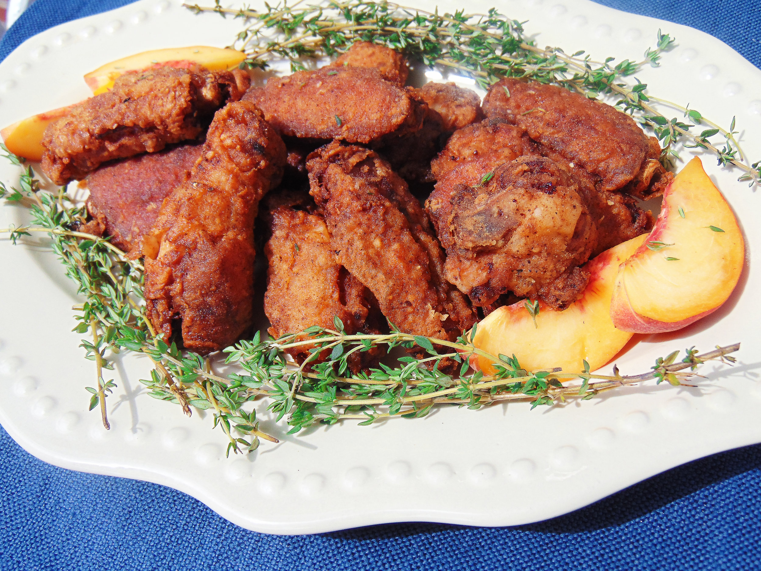 Southern Peach Tea-brined Fried Chicken