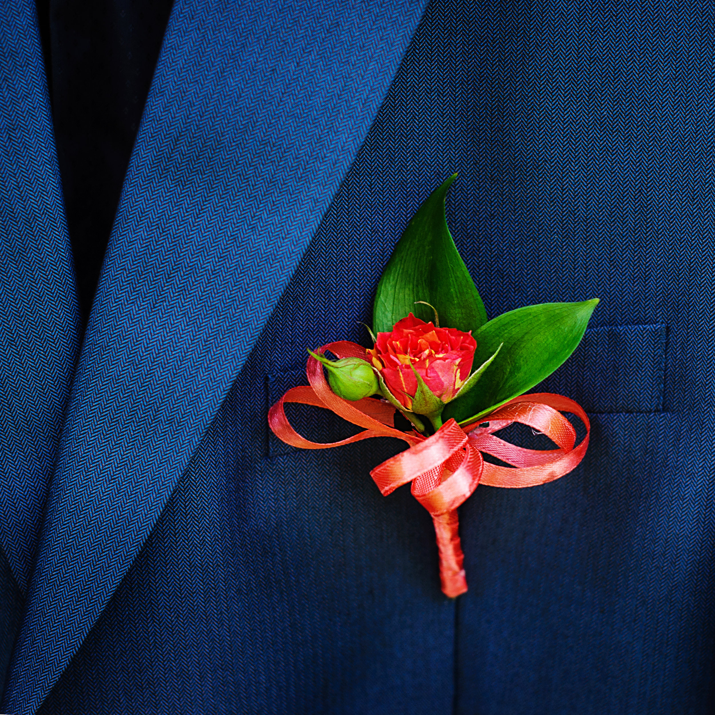 Button Hole Flowers. - A simple flower to add that finishing touch to a suit