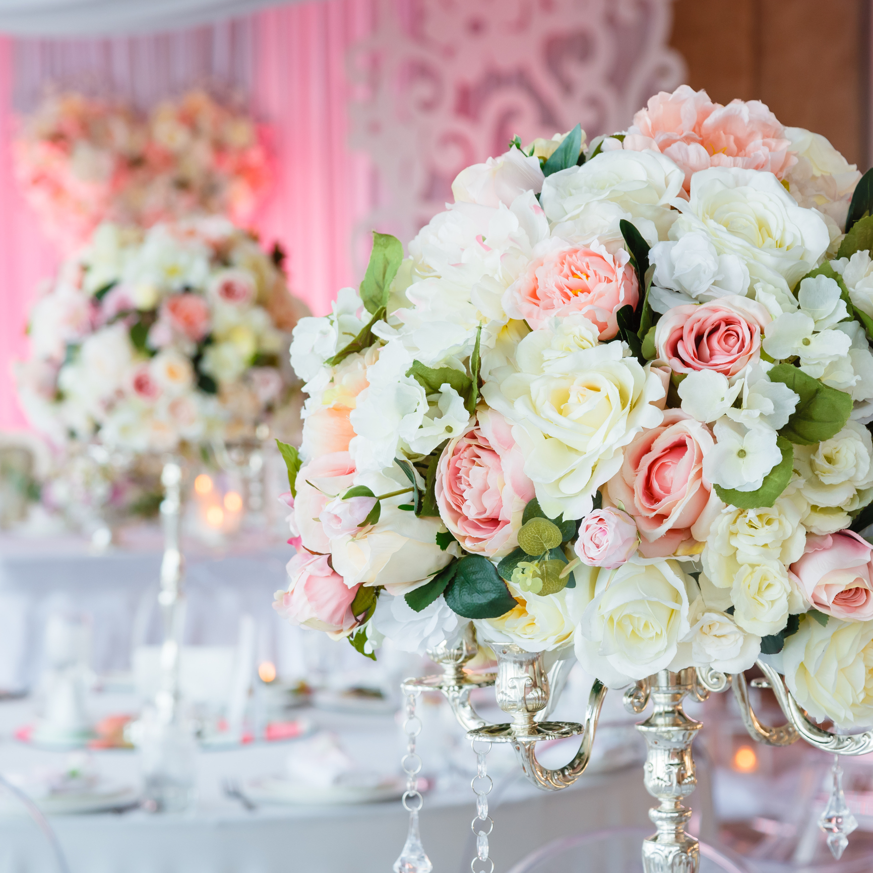 table centres. - Co-ordinating your bouquet and table flowers is a great way to continue the theme of your wedding