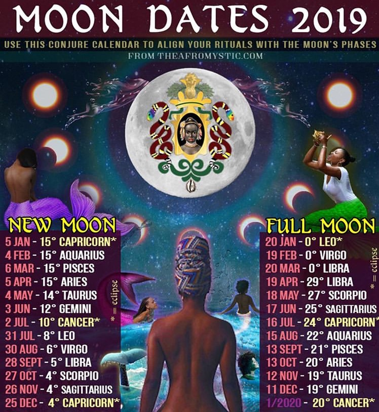 Get your free moon calendar @  The Afro Mystic