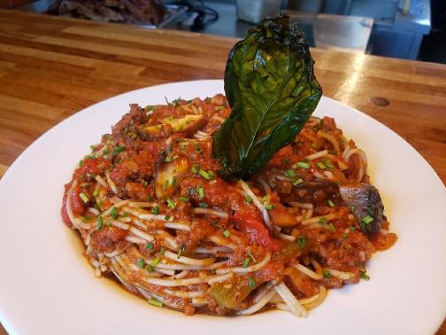 Pasta with Vegan Sausage