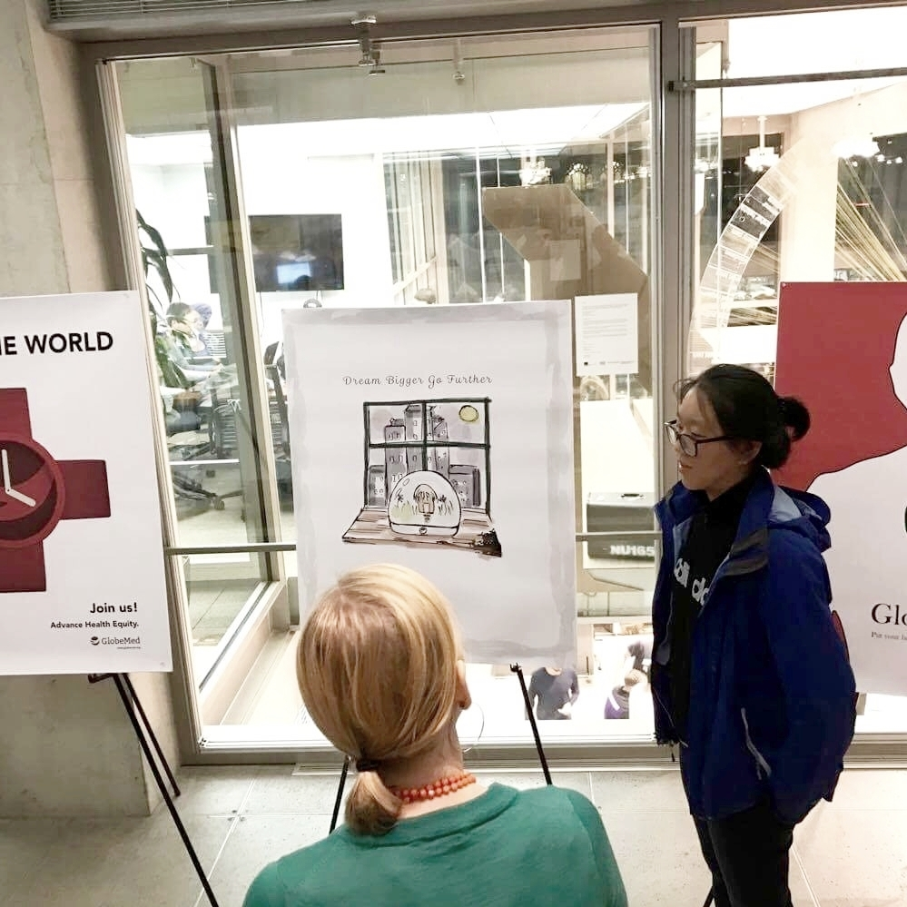 Design for GlobeMed - GlobeMed is a global organization which partners students with grassroots organizations to address health disparities.I designed 10 posters for it and presented to its staffs.