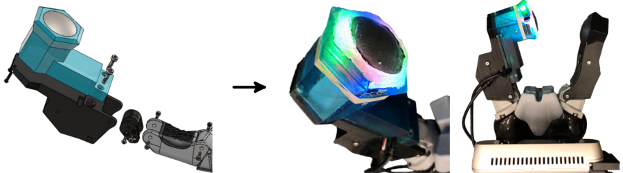 Design and the integration of the Fingertip GelSight sensor on the Kinova 2-finger gripper