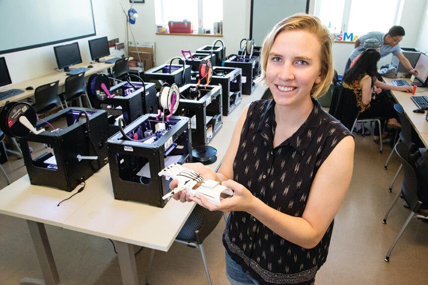 Nora Benson - undergraduate student who used the MakerLab.