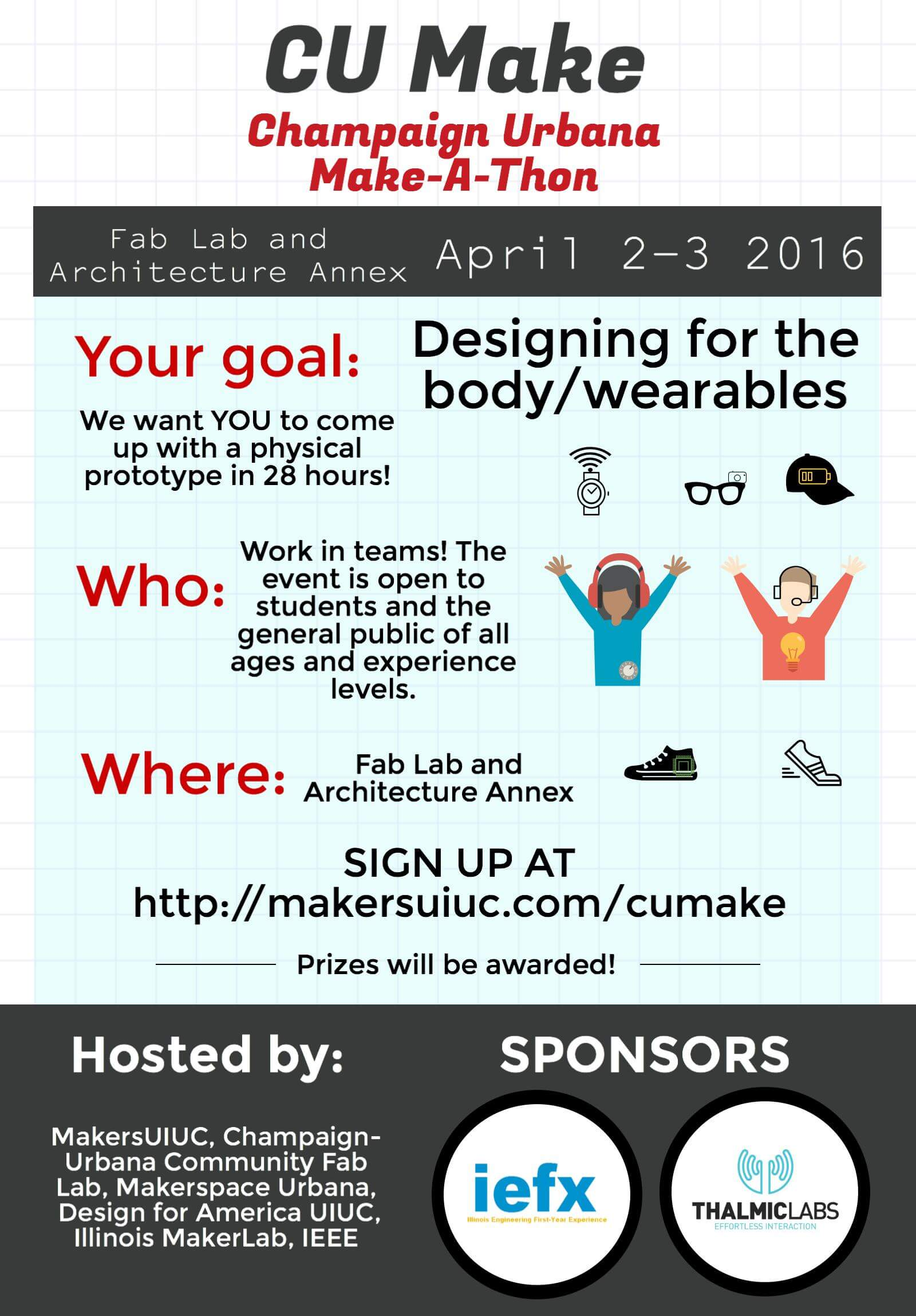 The Flyer for the annual CU-Makeathon