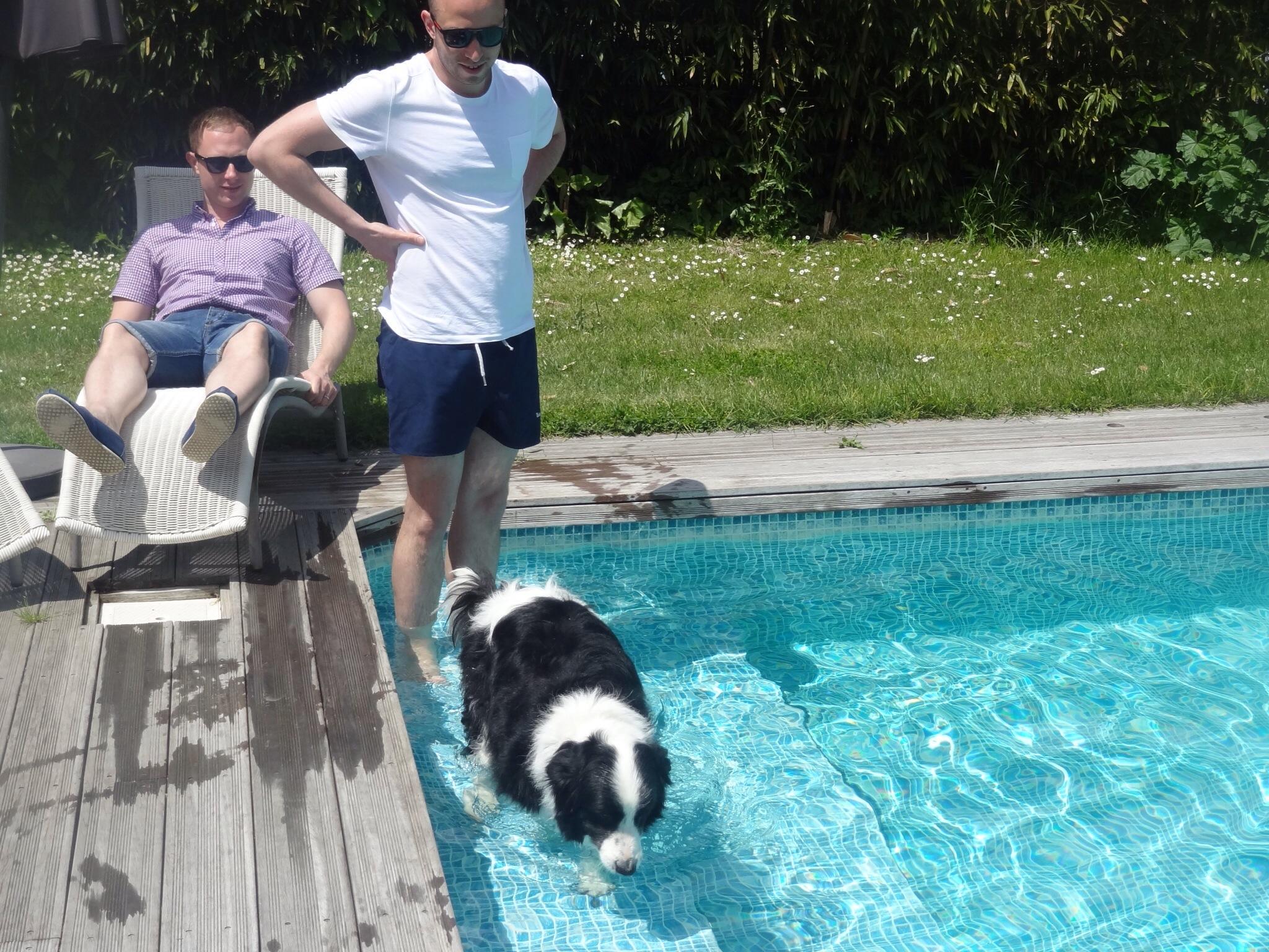 Tiga in the pool