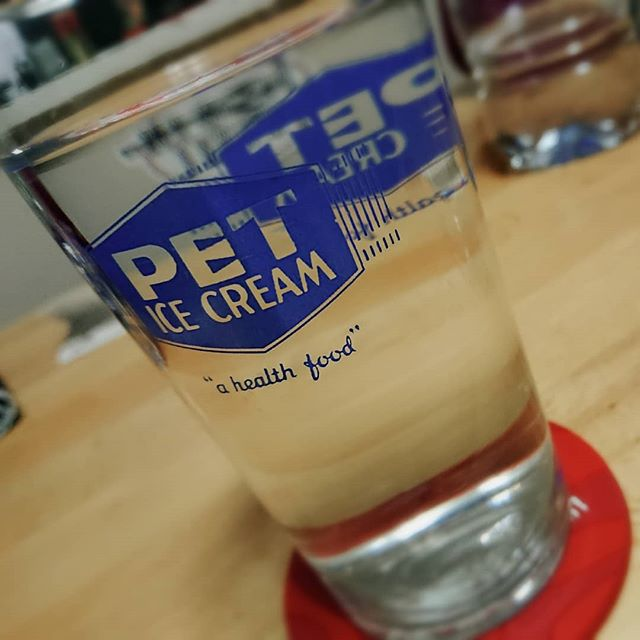 "I didn't know ice cream was a ""health food"", but let's go with it! 🤠  #icecream #vintageglassware #federalglass #petmilk #jppod #johnpaulusa #jpmathes 🤓"