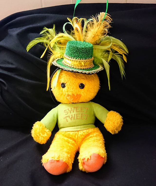Sweet Tweet is ready for #stpatricksday 🍀 RU? 🤔 🤠  #saintpatricksday #Green #stuffedanimals #sweettweet #johnpaulusa #jppod #Elizabethton #appalachia #Tennessee #fiddlingleona #jpmathes 🤓