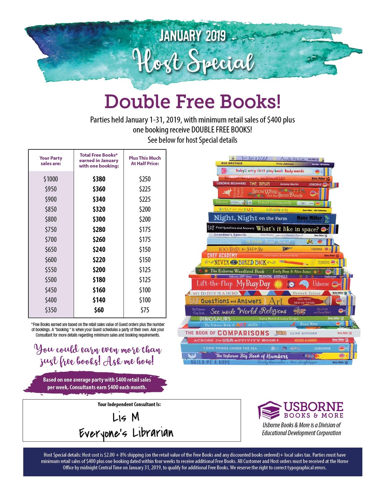 January Usborne Books More Hostess Rewards Everyone S Librarian