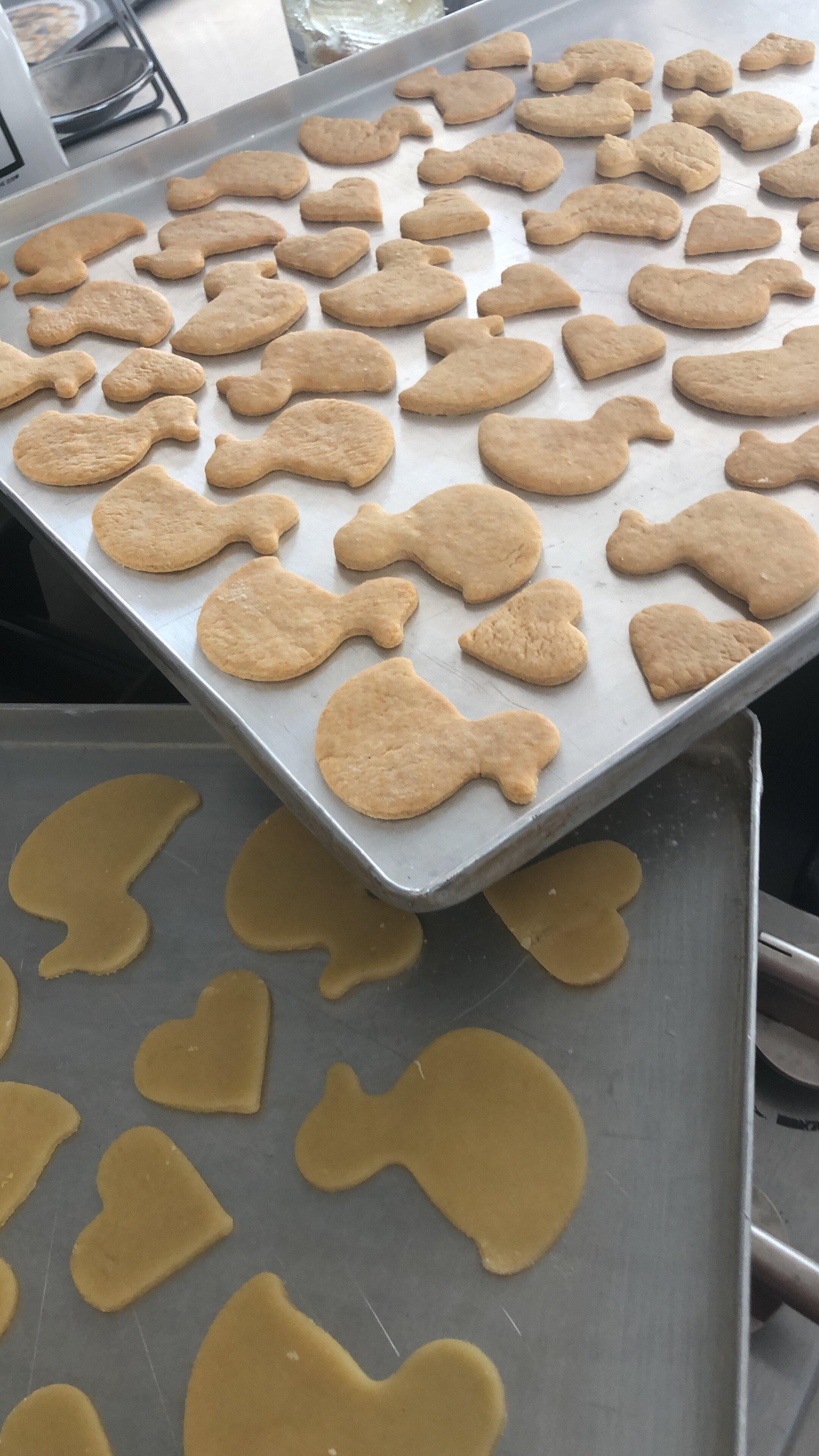 Bei uns werden es immer ca. 120 Kekse pro Rezept