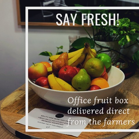 Fresh fruit delivered to South Hive direct from the farmers each week #southhivehub #sayfresh #officefruit #coworkingmelbourne #southmelbourne
