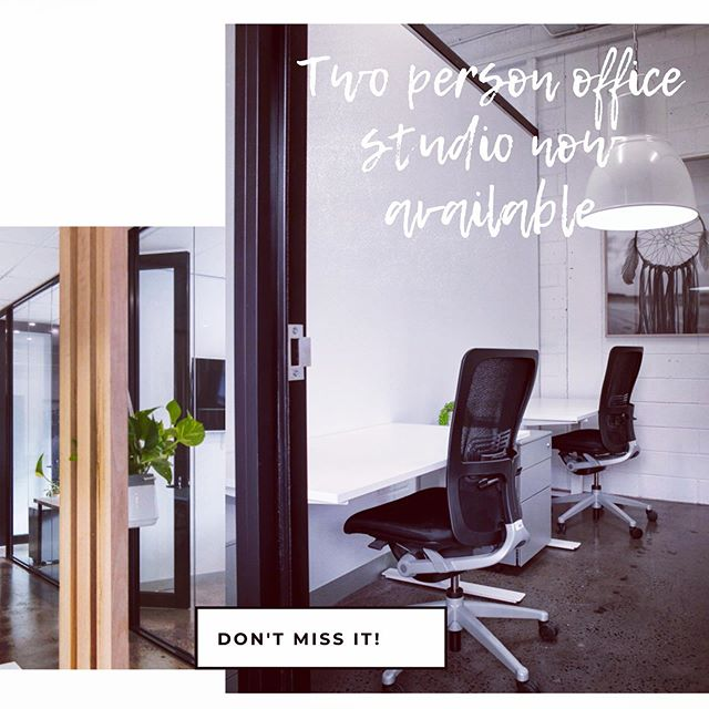 One of our two person office studios has just become available!! Contact us and come and check it out for yourself. Won't last long!! #southhivehub #coworking Melbourne #southmelbourne #albertpark #portmelbourne #privateofficemelbourne