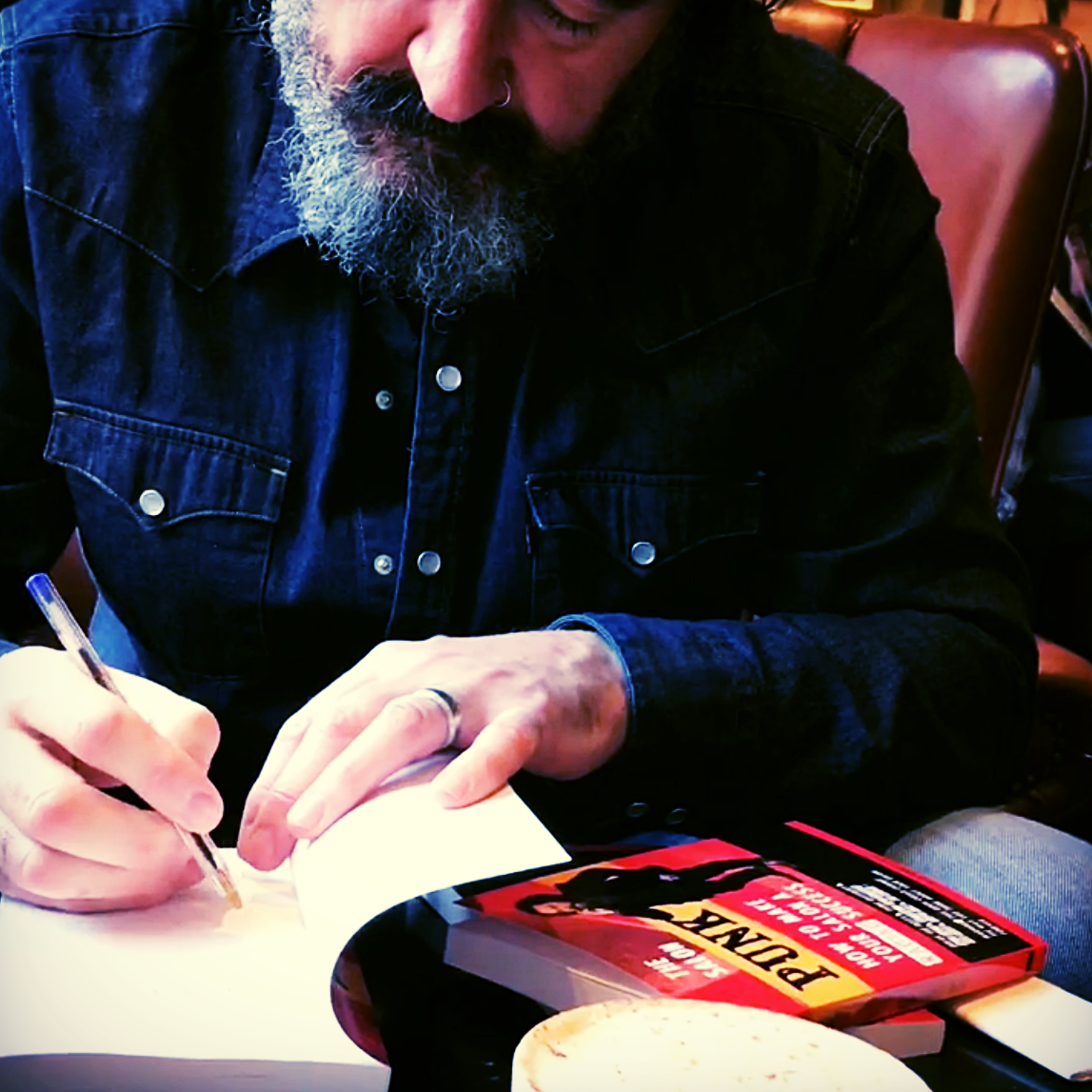 I am signing copies of my 17th and latest book ready to post to eager readers.