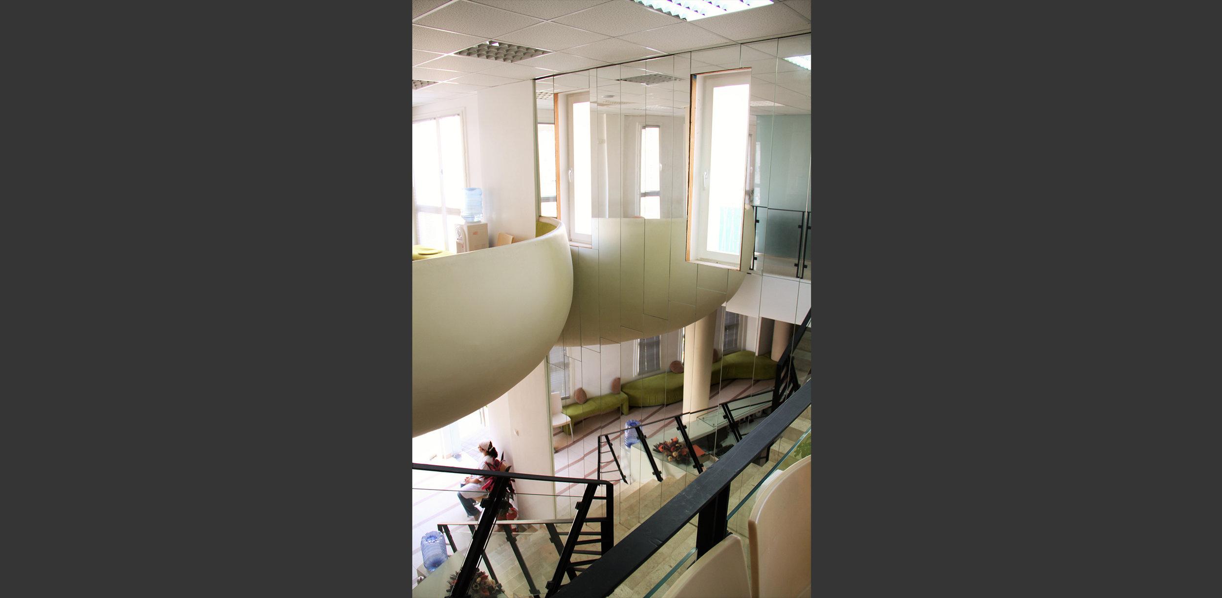 intérieur Clinique fécondation in-vitro Tiziri Alger. Atelier Messaoudi architecture aménagement et design. Bureau d'étude Algérie.